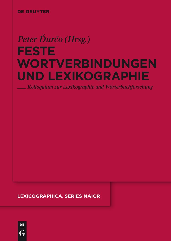 Feste Wortverbindungen und Lexikographie | Durco, 2010 | Buch (Cover)