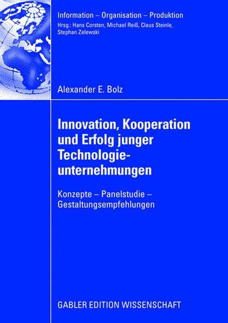 Innovation, Kooperation und Erfolg junger Technologieunternehmungen | Bolz, 2008 | Buch (Cover)