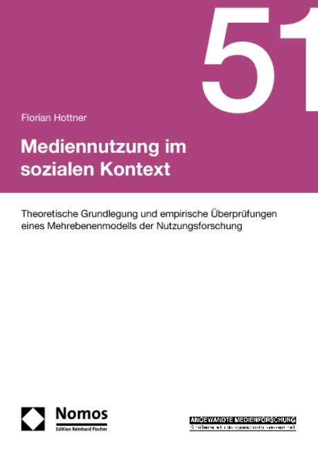 Mediennutzung im sozialen Kontext | Hottner, 2010 | Buch (Cover)