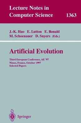 Abbildung von Hao / Lutton / Ronald / Schoenauer / Snyers | Artificial Evolution | 1998 | 1363