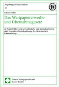 Das Wertpapiererwerbs- und Übernahmegesetz   Mühle, 2002   Buch (Cover)
