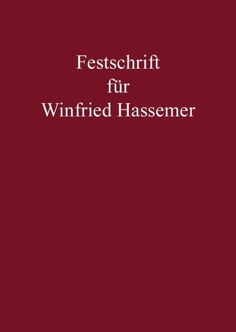 Festschrift für Winfried Hassemer   Neumann / Herzog   Buch (Cover)