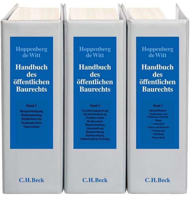 Handbuch des öffentlichen Baurechts | Hoppenberg / de Witt | 49. Auflage (Cover)