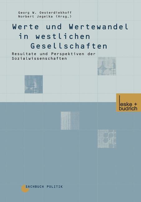 Abbildung von Oesterdiekhoff / Jegelka | Werte und Wertewandel in westlichen Gesellschaften | 2001