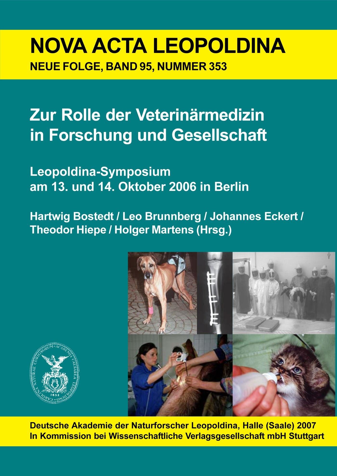 Zur Rolle der Veterinärmedizin in Forschung und Gesellschaft | Bostedt / Brunnberg / Eckert, 2007 | Buch (Cover)