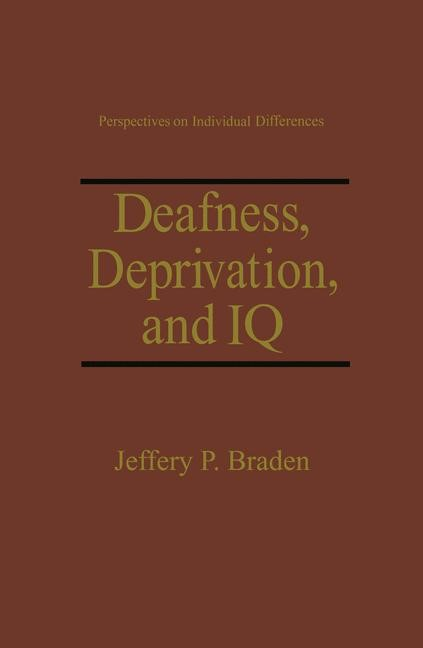 Deafness, Deprivation, and IQ | Braden, 1994 | Buch (Cover)