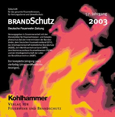 Abbildung von BRANDSchutz 2003 auf CD-ROM | 57. Jahrgang | 2004