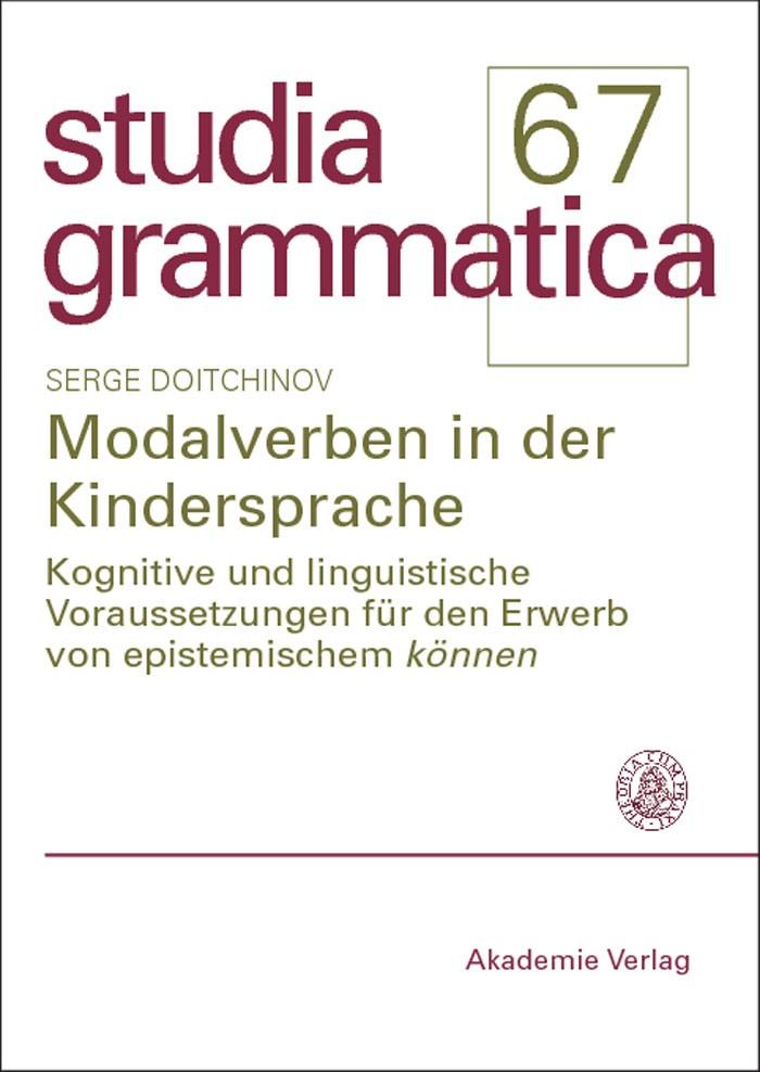 Abbildung von Doitchinov | Modalverben in der Kindersprache | 2007