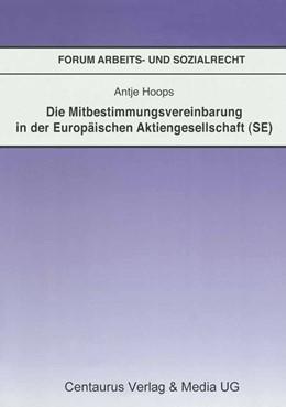 Abbildung von Hoops | Die Mitbestimmungsvereinbarung in der Europäischen Aktiengesellschaft (SE) | 2009 | 2015 | 33