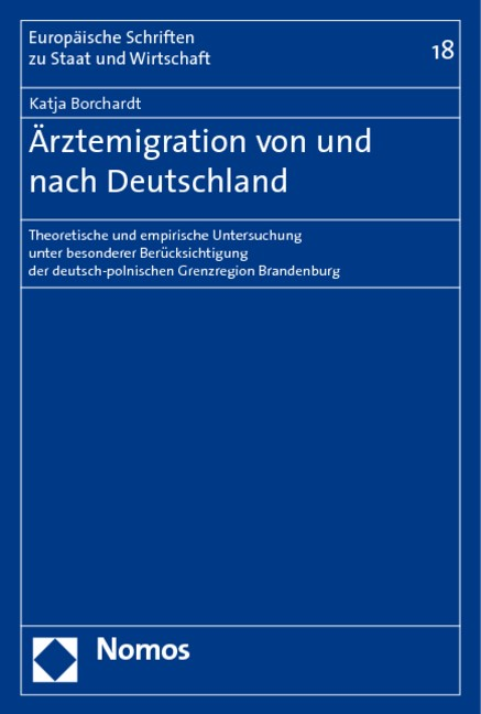Ärztemigration von und nach Deutschland   Borchardt, 2006   Buch (Cover)