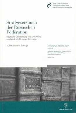 Abbildung von Strafgesetzbuch der Russischen Föderation. | 2. Auflage | 2007 | 108 | beck-shop.de