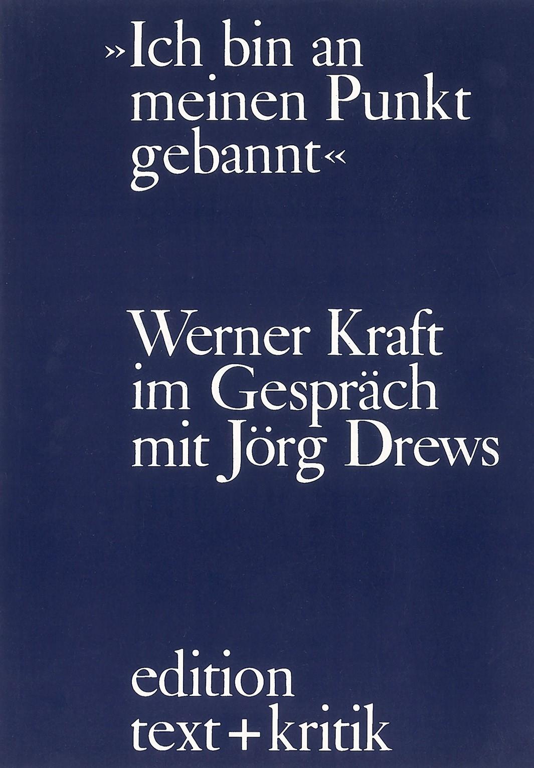 """Ich bin an meinen Punkt gebannt"" | Drews, 1978 | Buch (Cover)"