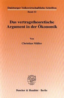 Abbildung von Müller | Das vertragstheoretische Argument in der Ökonomik. | 2000 | 33