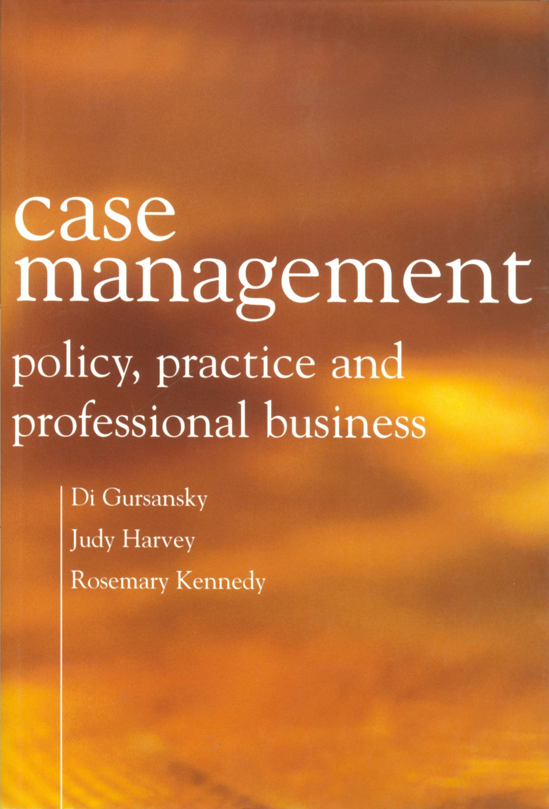 Abbildung von Gursansky / Harvey / Kennedy | Case Management | 2003