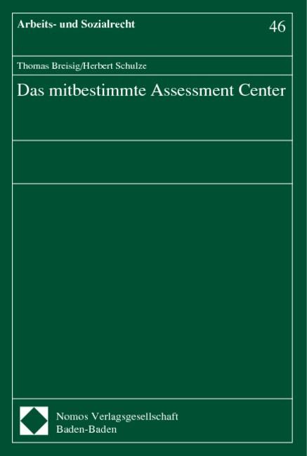 Das mitbestimmte Assessment Center | Breisig / Schulze, 1998 | Buch (Cover)