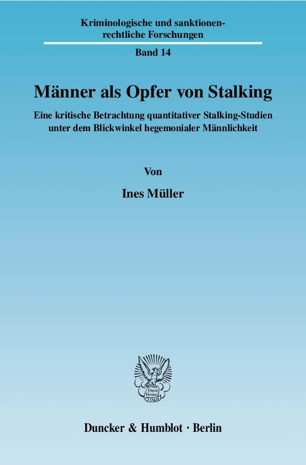 Männer als Opfer von Stalking.   Müller, 2008   Buch (Cover)