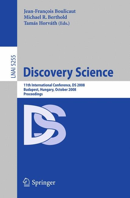 Discovery Science | Boulicaut / Berthold / Horváth, 2008 | Buch (Cover)