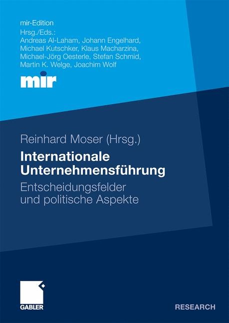 Internationale Unternehmensführung | Moser, 2009 | Buch (Cover)