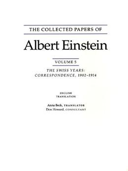 Abbildung von Einstein | The Collected Papers of Albert Einstein, Volume 5: The Swiss Years: Correspondence, 1902-1914. (English translation supplement) | 1995 | The Collected Papers of Albert... | Volume 5. (English)