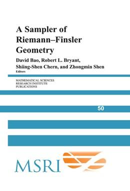 Abbildung von Bao / Bryant / Chern / Shen | A Sampler of Riemann-Finsler Geometry | 2004 | 50