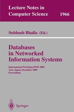 Abbildung von Bhalla | Databases in Networked Information Systems | 2000 | International Workshop DNIS 20... | 1966