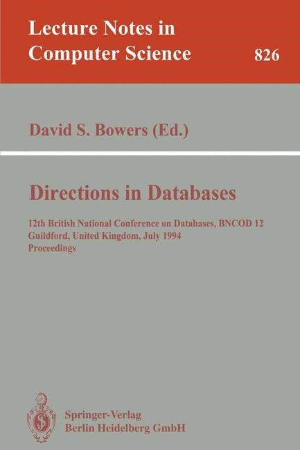 Directions in Databases | Bowers, 1994 | Buch (Cover)
