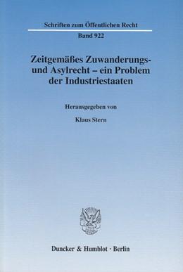 Abbildung von Stern   Zeitgemäßes Zuwanderungs- und Asylrecht - ein Problem der Industriestaaten.   2003   Internationale wissenschaftlic...   922