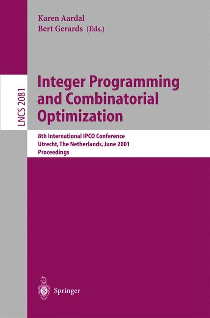 Integer Programming and Combinatorial Optimization | Aardal / Gerards, 2001 | Buch (Cover)