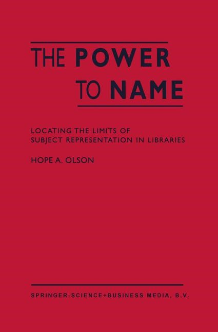 The Power to Name | Olson, 2002 | Buch (Cover)