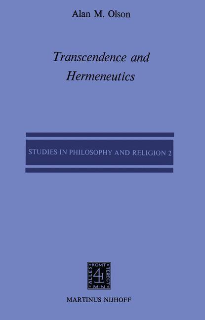 Transcendence and Hermeneutics | Olson, 1979 | Buch (Cover)