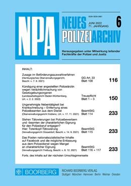Abbildung von Maier   Neues Polizeiarchiv (NPA)   1. Auflage   2020   beck-shop.de