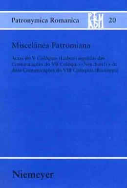 Abbildung von Kremer / Castro / Müller | Miscelânea Patromiana | 2003 | Actas do V Colóquio (Lisboa) s... | 20