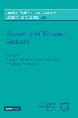 Abbildung von Gardiner / González-Diez / Kourouniotis | Geometry of Riemann Surfaces | 2010 | 368