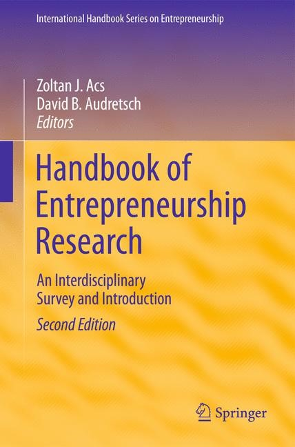 Handbook of Entrepreneurship Research | Acs / Audretsch | 2nd ed., 2010 | Buch (Cover)