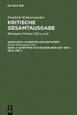 Abbildung von Schriften aus der Berliner Zeit 1800-1802 | 1988 | 1988 | Abteilung I: Schriften und Ent...