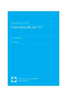 Abbildung von Krämer | Umweltrecht der EU | 2001 | Textsammlung: