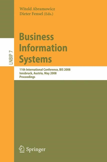 Business Information Systems | Abramowicz, 2008 | Buch (Cover)
