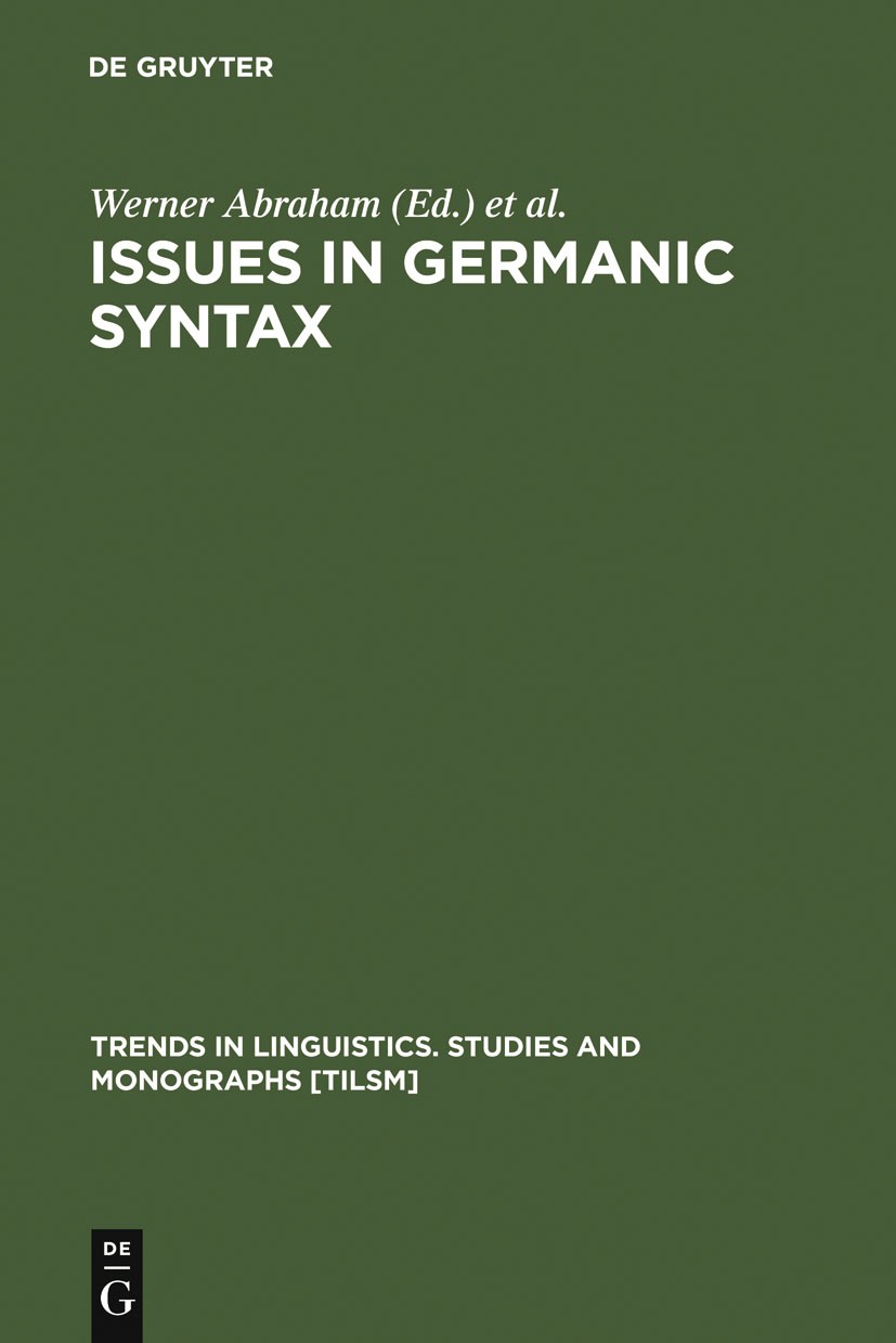 Issues in Germanic Syntax | Abraham / Kosmeijer / Reuland, 1990 | Buch (Cover)