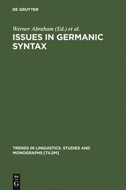 Abbildung von Abraham / Kosmeijer / Reuland | Issues in Germanic Syntax | 1990