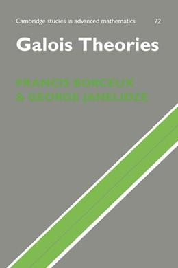 Abbildung von Borceux / Janelidze | Galois Theories | 2001 | 72