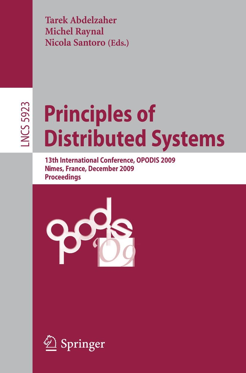 Principles of Distributed Systems | Abdelzaher / Raynal / Santoro | 1st Edition., 2009 | Buch (Cover)