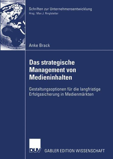 Das strategische Management von Medieninhalten | Brack, 2003 | Buch (Cover)
