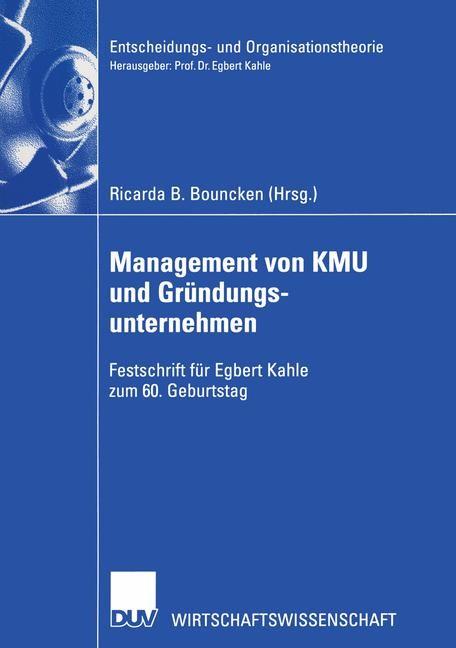 Management von KMU und Gründungsunternehmen | Bouncken, 2003 | Buch (Cover)