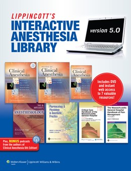 Abbildung von Barash / Connelly / Stoelting / Yao   The Lippincott Interactive Anesthesia Library on DVD-ROM   2010   Version 5.0