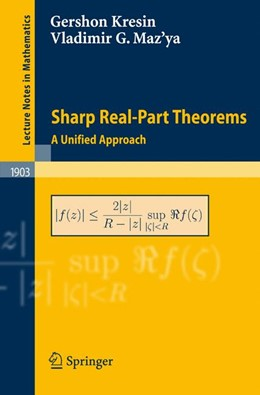 Abbildung von Kresin / Shaposhnikova / Maz'ya | Sharp Real-Part Theorems | 2007 | A Unified Approach | 1903