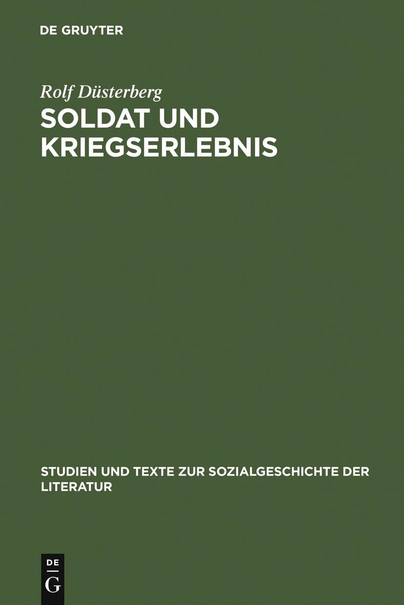 Soldat und Kriegserlebnis | Düsterberg, 2000 | Buch (Cover)