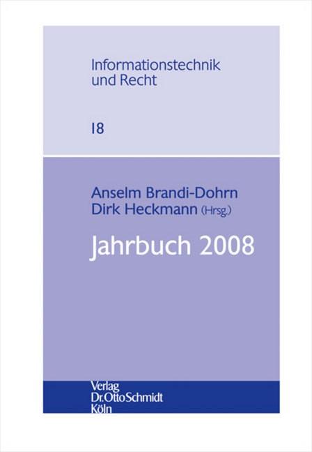 Jahrbuch 2008 | Brandi-Dohrn / Heckmann, 2009 | Buch (Cover)