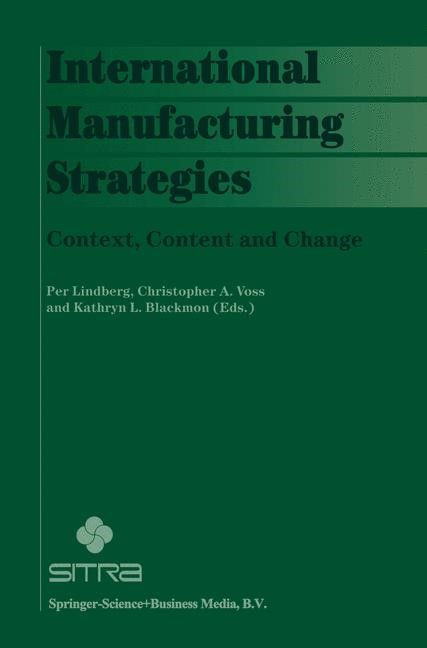 International Manufacturing Strategies   Lindberg / Voss / Blackmon, 1997   Buch (Cover)