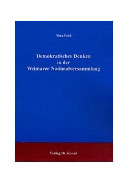 Abbildung von Pohl   Demokratisches Denken in der Weimarer Nationalversammlung   2002   4