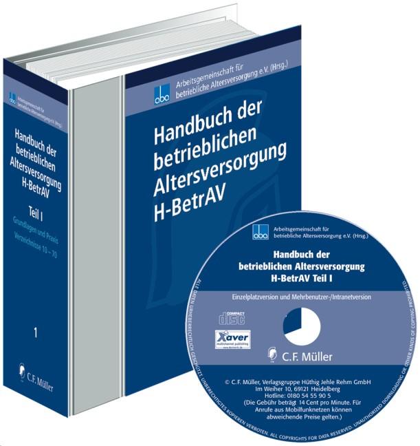 Handbuch der betrieblichen Altersversorgung - H-BetrAV (Teil I) • mit CD-ROM - mit Aktualisierungsservice | aba - Arbeitsgemeinschaft für betriebliche Altersversorgung e.V. (Hrsg.) | Loseblattwerk mit Aktualisierungen, 2012 (Cover)